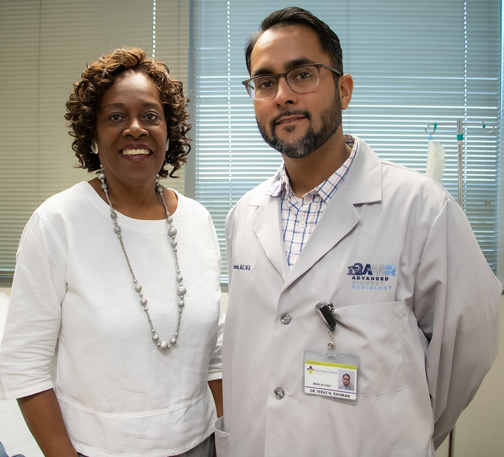 Beverly Dixon with Dr. Feraz Rahman, M.D.,