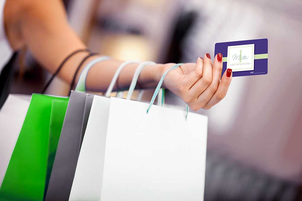 Woman Shopping with IMatter Card