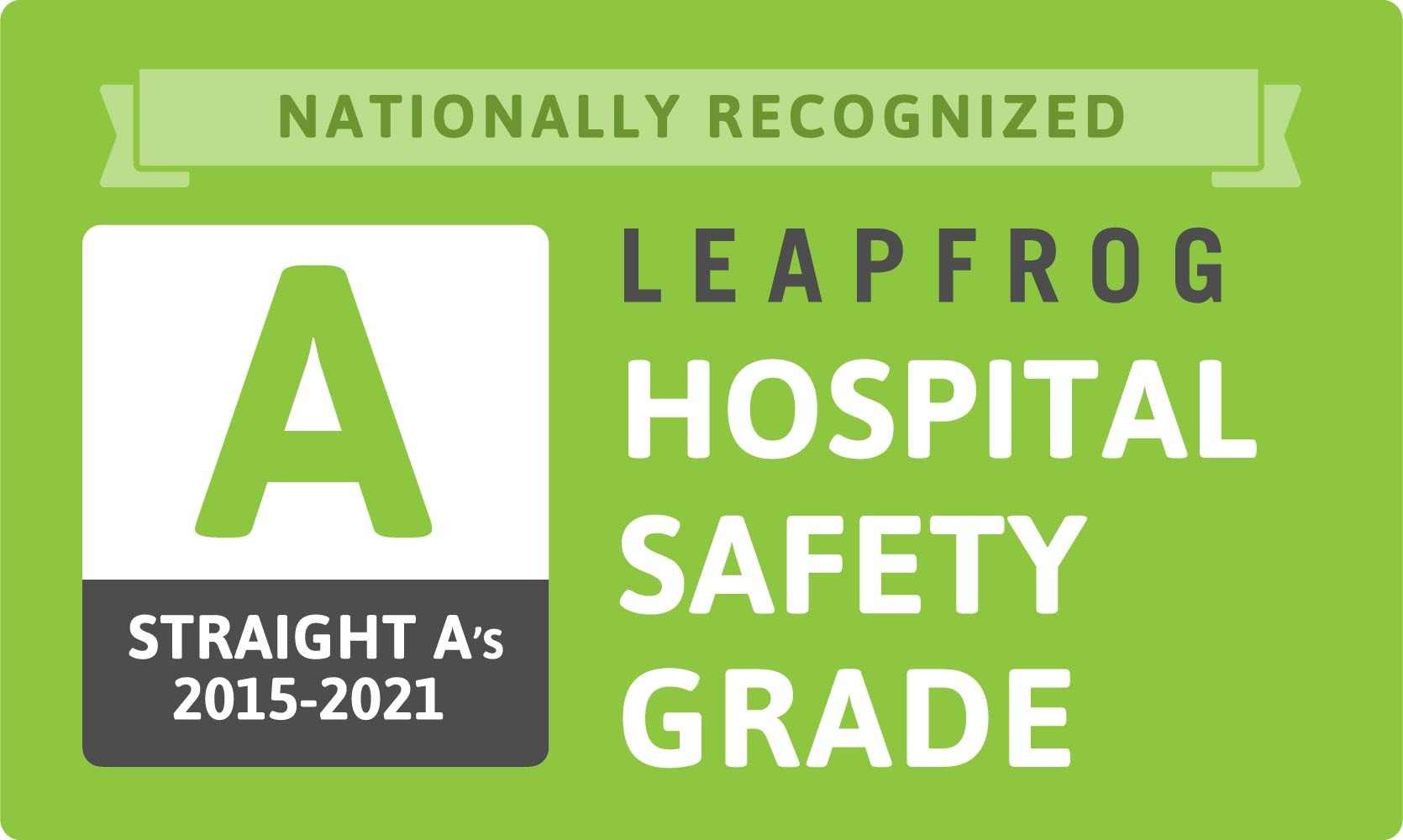 Straight A-s Patient Safety Grade logo