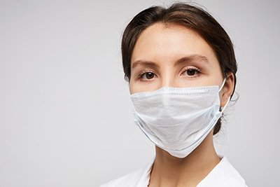 Masked Healthcare Worker