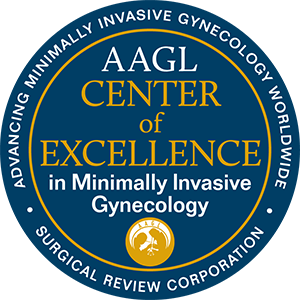 Center of Excellence in Minimally Invasive Gynecology logo